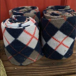 Blue checkered polo wraps